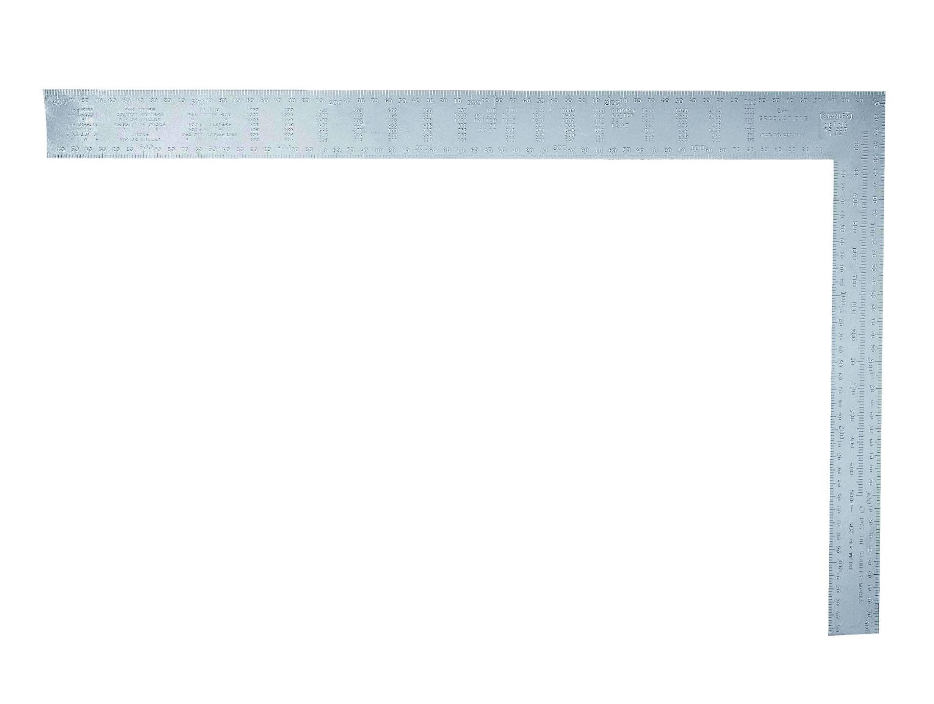 stanley framing square 24in carpenters steel imperial metric