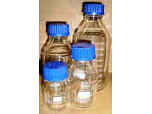 Glass Bottle 1L, With PP Screw Cap And PP Pouring Ring