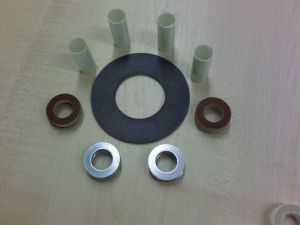 Neoprene Faced Phenolic Flat Ring Gasket Mylar Sleeves Phenolic  4